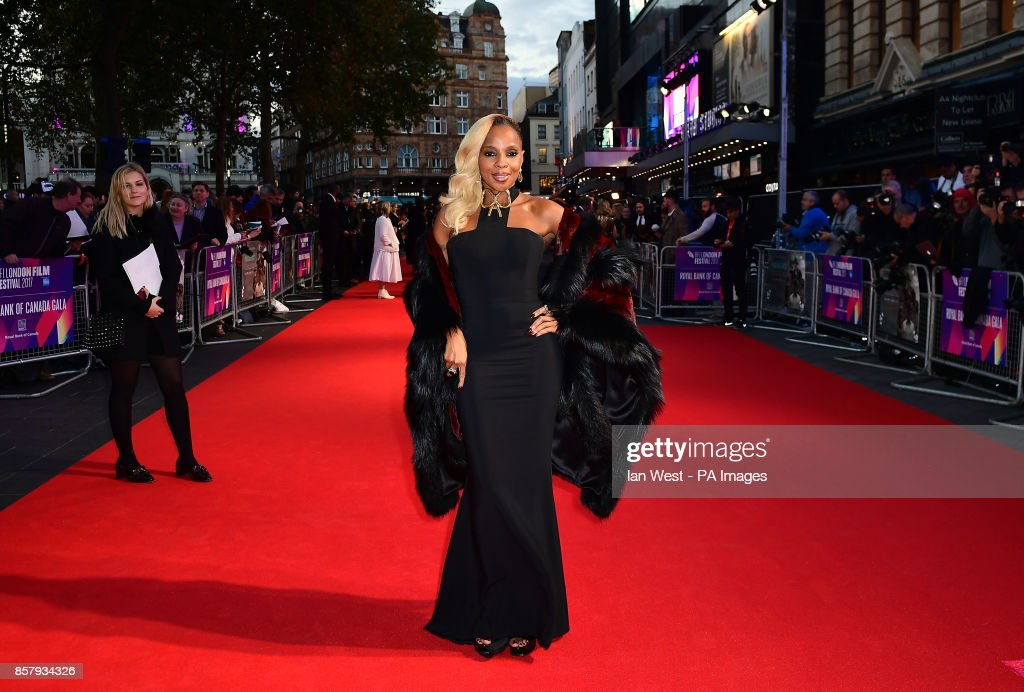 Mary J Blige attending the Premiere of Mudbound as part of the BFI London Film Festival, at The Odeon Leicester Square, London.