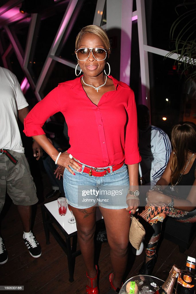 Mary J Blige attends Don Pooh's Birthday Party at Copacabana on August 19, 2012 in New York City.