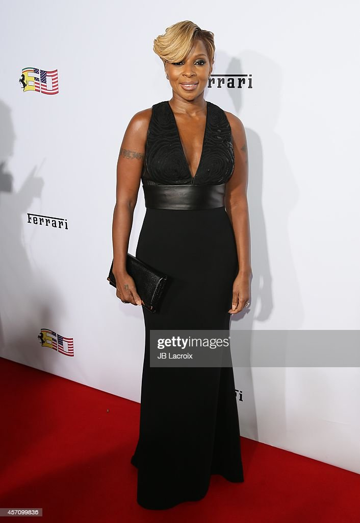 Mary J. Blige attends Ferrari's 60th Anniversary in the USA Gala at the Wallis Annenberg Center for the Performing Arts on October 11, 2014 in Beverly Hills, California.