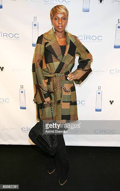 Mary J Blige attends Sean 'Diddy' Combs' private birthday party at Mansion on November 5 2008 in New York City New York