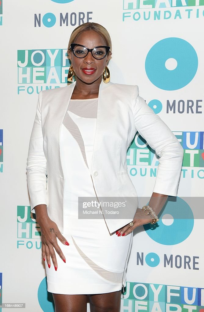 Mary J. Blige attends the 2013 Joyful Heart Foundation gala at Cipriani 42nd Street on May 9, 2013 in New York City.