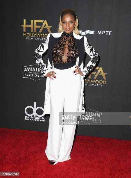 Mary J Blige attends the 21st Annual Hollywood Film Awards at The Beverly Hilton Hotel on November 5 2017 in Beverly Hills California