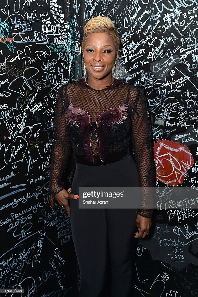Mary J Blige attends the 8th annual Apollo Theater Spring Gala Concert at The Apollo Theater on June 10, 2013 in New York City.