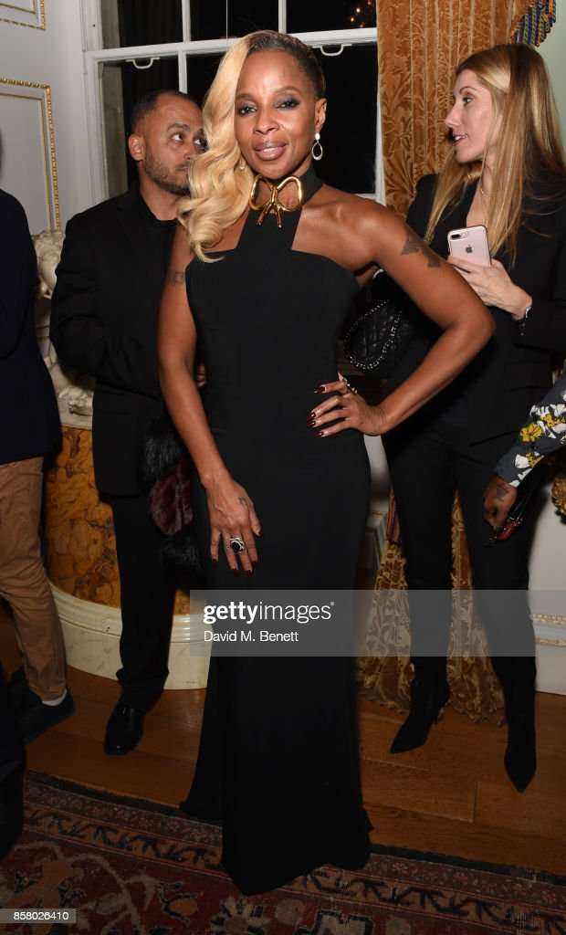 Mary J Blige attends the Academy of Motion Picture Arts and Sciences new members party at Spencer House on October 5, 2017 in London, England.