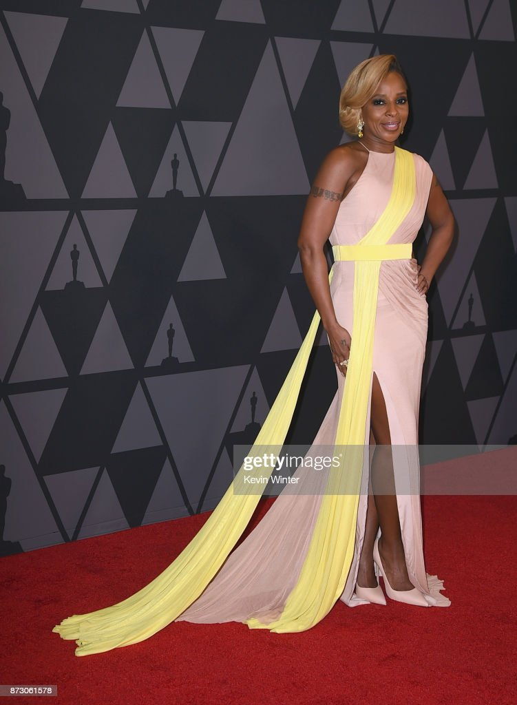 Mary J. Blige attends the Academy of Motion Picture Arts and Sciences' 9th Annual Governors Awards at The Ray Dolby Ballroom at Hollywood & Highland Center on November 11, 2017 in Hollywood, California.