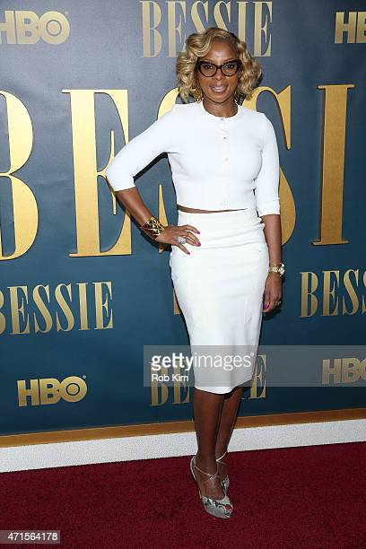 Mary J Blige attends the 'Bessie' New York screening at The Museum of Modern Art on April 29 2015 in New York City