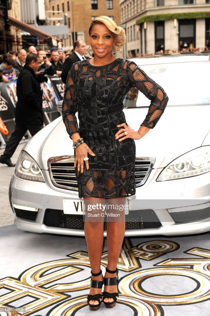 Mary J. Blige attends the European premiere of 'Rock Of Ages' at Odeon Leicester Square on June 10, 2012 in London, England.