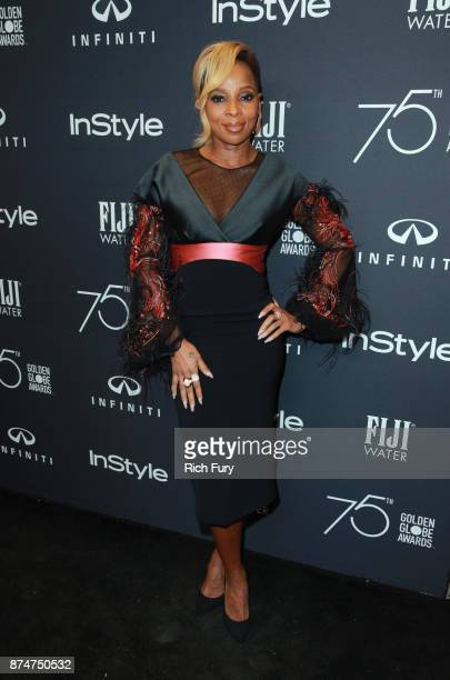 Mary J Blige attends the Hollywood Foreign Press Association and InStyle celebrate the 75th Anniversary of The Golden Globe Awards at Catch LA on...