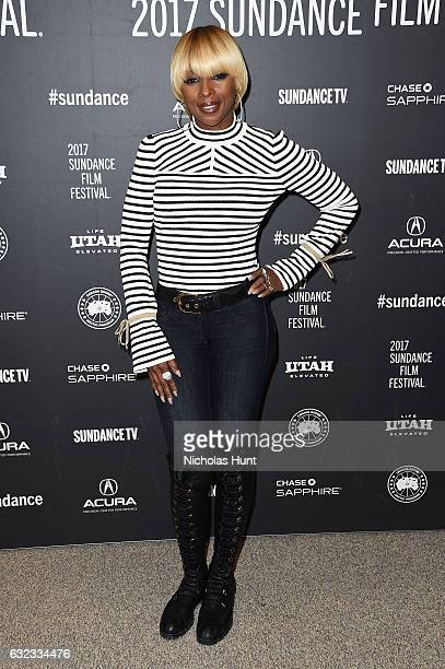 Mary J Blige attends the 'Mudbound' Premiere on day 3 of the 2017 Sundance Film Festival at Eccles Center Theatre on January 21 2017 in Park City Utah
