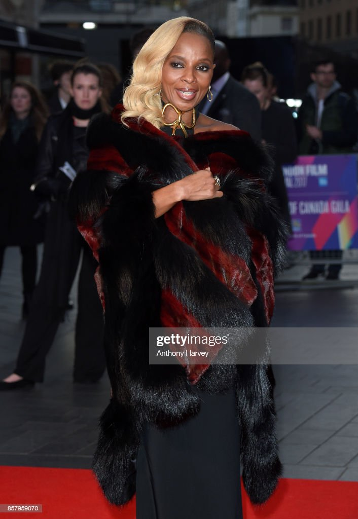 Mary J. Blige attends the Royal Bank of Canada Gala & European Premiere of 'Mudbound' during the 61st BFI London Film Festival on October 5, 2017 in London, England.