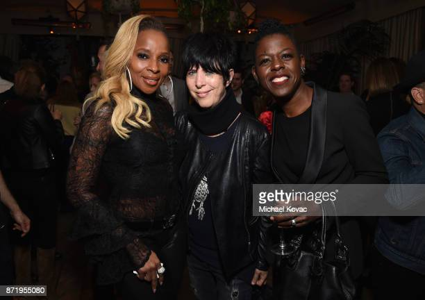 Mary J Blige Diane Warren and Angie Wells at 'Mudbound' Special Screening at Chateau Marmont on November 8 2017 in Los Angeles California