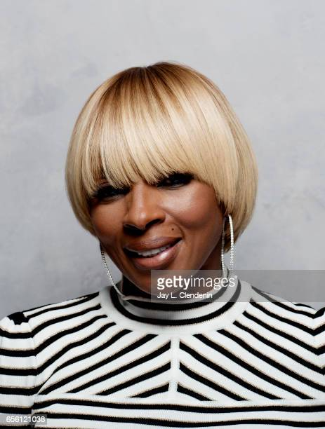 Mary J Blige from the film 'Mudbound' is photographed at the 2017 Sundance Film Festival for Los Angeles Times on January 21 2017 in Park City Utah...