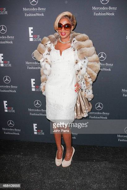 Mary J Blige is seen during MercedesBenz Fashion Week Fall 2014 at Lincoln Center for the Performing Arts on February 10 2014 in New York City