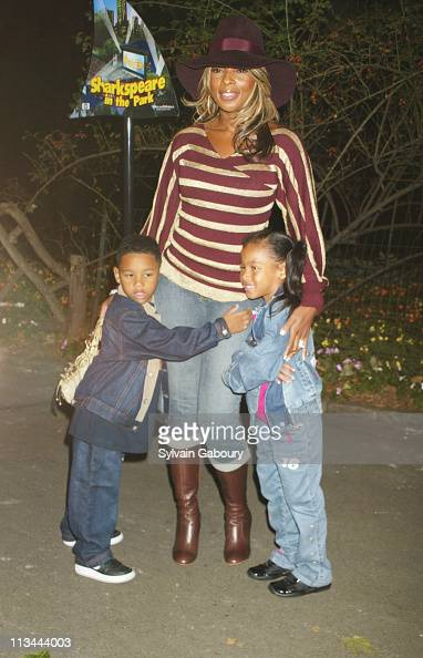 Mary J Blige kids during...