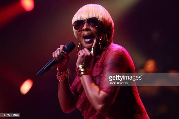 Mary J Blige performs at Hamer Hall on April 12 2017 in Melbourne Australia