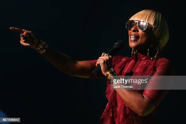 Mary J Blige performs at Hamer Hall on April 12 2017 in Melbourne Australia