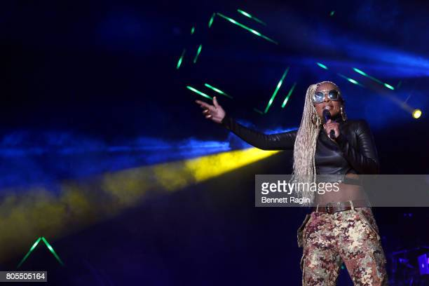 Mary J Blige performs onstage at the 2017 ESSENCE Festival Presented By Coca Cola at the MercedesBenz Superdome on July 1 2017 in New Orleans...