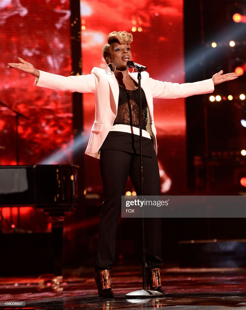 <a gi-track='captionPersonalityLinkClicked' href=/galleries/search?phrase=Mary+J.+Blige&family=editorial&specificpeople=171124 ng-click='$event.stopPropagation()'>Mary J. Blige</a> performs onstage on FOX's 'The X Factor' Season 3 Live Finale on December 19, 2013 in Hollywood, California.