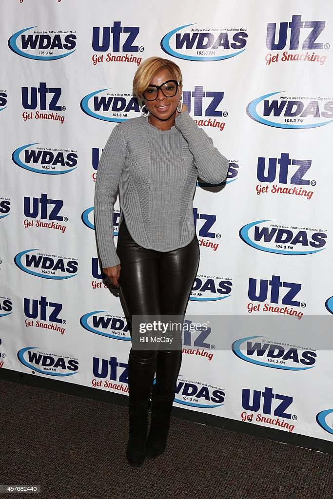 <a gi-track='captionPersonalityLinkClicked' href=/galleries/search?phrase=Mary+J.+Blige&family=editorial&specificpeople=171124 ng-click='$event.stopPropagation()'>Mary J. Blige</a> poses at the WDAS and Power 99 Performance Theater October 22, 2014 in Bala Cynwyd, Pennsylvania.