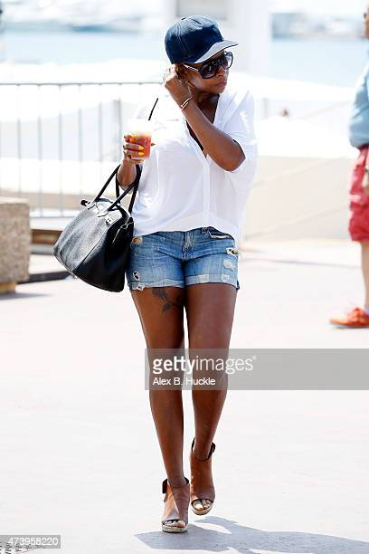 Mary J Blige seen on La Croisette during the 68th Annual Cannes Film Festival on May 19 2015 in Cannes France