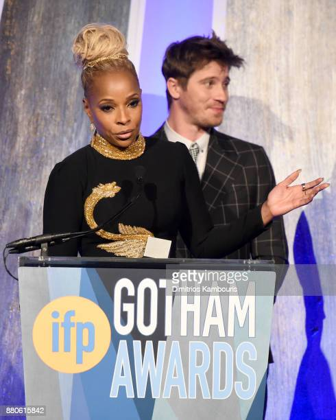 Mary J Blige speaks onstage during IFP's 27th Annual Gotham Independent Film Awards on November 27 2017 in New York City
