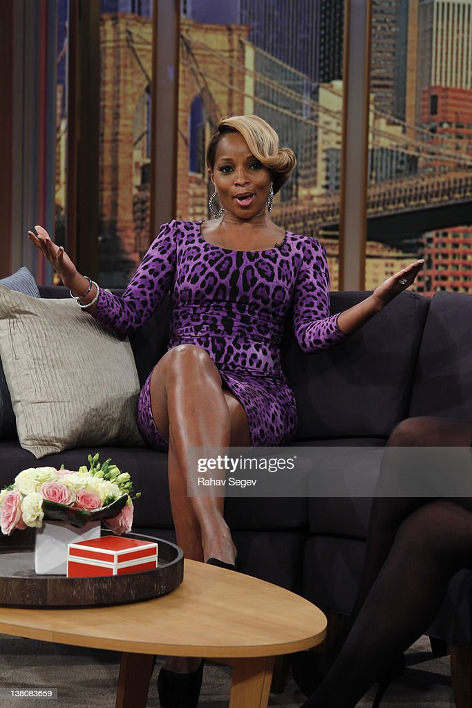 Mary J Blige visits 'The Wendy Williams Show' at The Wendy Williams Show Studio on February 2 2012 in New York City