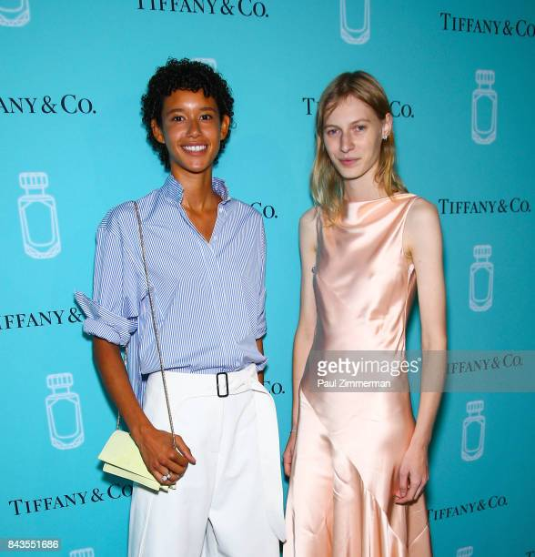 Mary Janice Dilone and Julia Nobis atten the Tiffany Co Fragrance Launch at Highline Stages on September 6 2017 in New York City