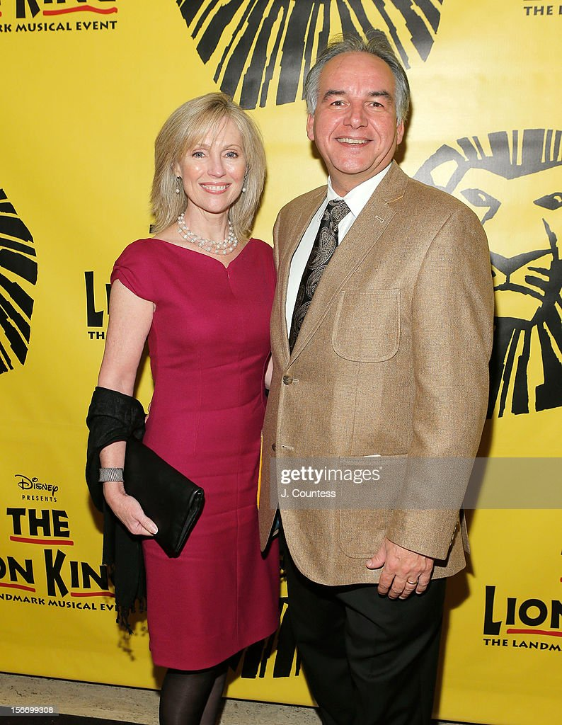Mary Jurman and composer Karl Jurman attend the afterparty for 'The Lion King' Broadway 15th Anniversary Celebration at Minskoff Theatre on November 18, 2012 in New York City.