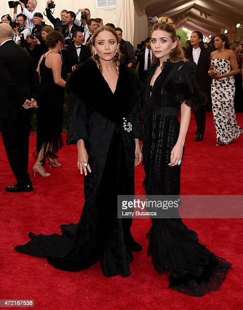 Mary Kate and Ashley Olsen attend the 'China Through The Looking Glass' Costume Institute Benefit Gala at the Metropolitan Museum of Art on May 4...