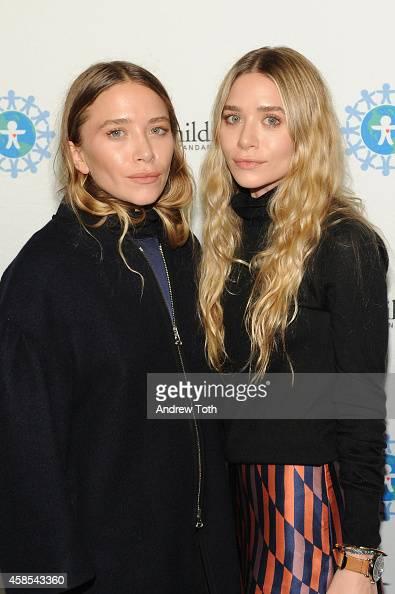 Mary Kate Olsen and Ashley Olsen attend the 2014 World Of Children Awards at 583 Park Avenue on November 6 2014 in New York City