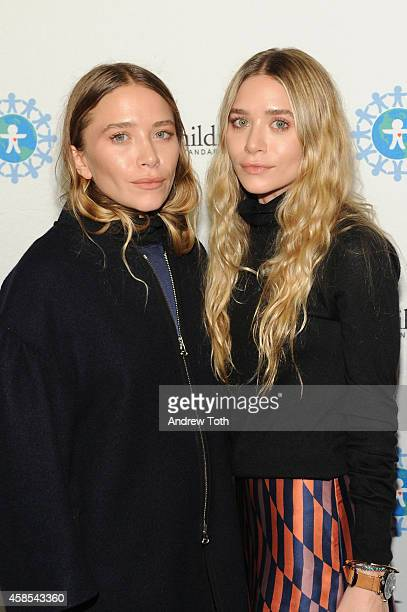 Mary Kate Olsen and Ashley Olsen attend the 2014 World Of Children Awards at 583 Park Avenue on November 6 2014 in New York City