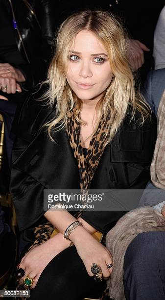 Mary Kate Olsen attends the John Galliano fashion show during Paris Fashion Week Fall/Winter 2008 held at the Grande Halle de la Vilette on March 1...