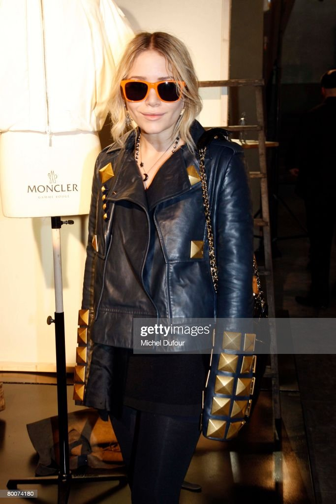 Mary Kate Olsen attends the Moncler Fashion show gamme Rouge designed by Giambattita Valli during Paris Fashion Week FallWinter 20082009 at Musee...