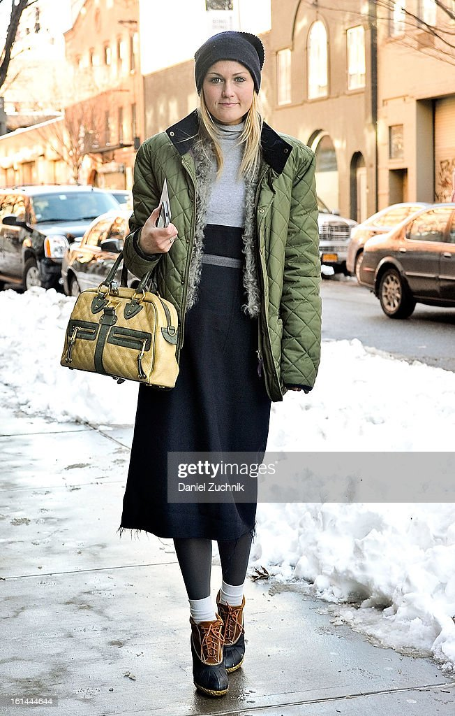 Mary Kate Steinmiller seen outside the Thakoon show on February 10, 2013 in New York City.