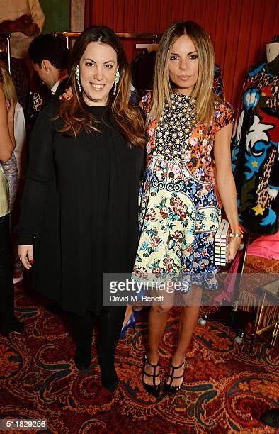 Mary Katrantzou and Erica Pelosini attend the Mary Katrantzou London Fashion Week lunch at Mark's Club on February 23 2016 in London England