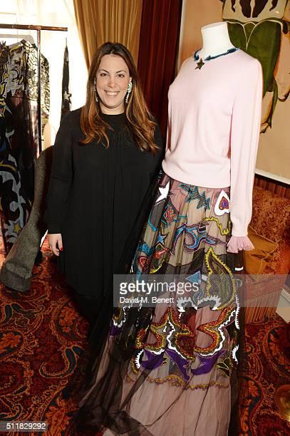 Mary Katrantzou attends the Mary Katrantzou London Fashion Week lunch at Mark's Club on February 23 2016 in London England