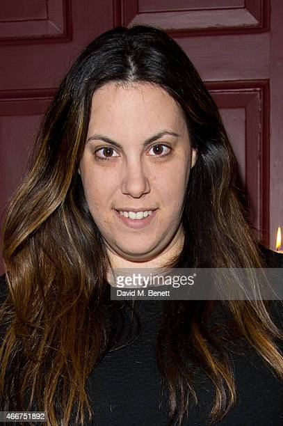 Mary Katrantzou attends the Saloni Holi colour cocktail party on March 18 2015 in London England