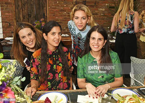 Mary Katrantzou Noor Fares Sabine Getty and Fernanda Abdalla attend a private lunch hosted by Mary Katrantzou and Anastasia Koutsioukis to celebrate...