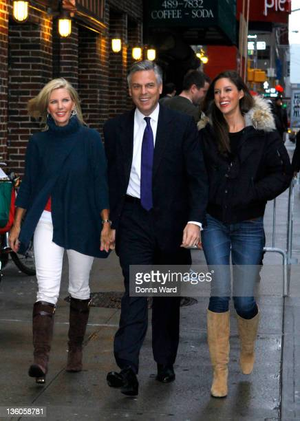 Mary Kaye Huntsman Presidential Hopeful Jon Huntsman and Abby Huntsman arrive for the 'Late Show With David Letterman' at the Ed Sullivan Theater on...