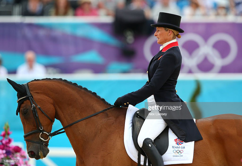 Mary King of Great Britain riding Imperial Cavalier competes in the Dressage Equestrian event on Day 1 of the London 2012 Olympic Games at Greenwich Park on July 28, 2012 in London, England.