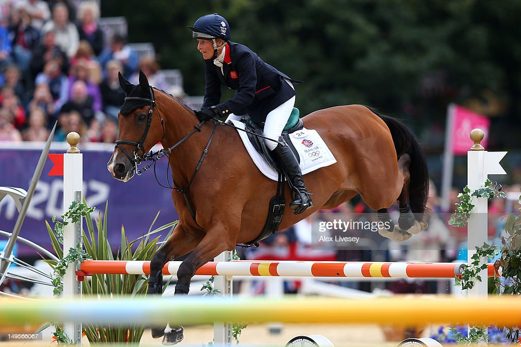 Mary King of Great Britain riding Imperial Cavalier in action in the Show Jumping Equestrian event on Day 4 of the London 2012 Olympic Games at Greenwich Park on July 31, 2012 in London, England.