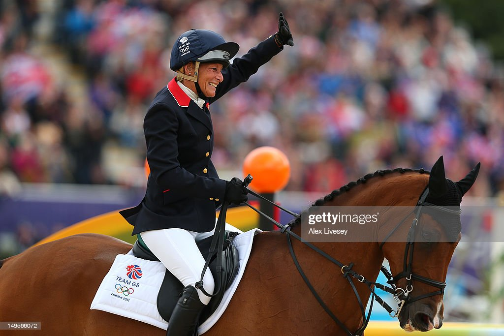 Mary King of Great Britain riding Imperial Cavalier in celebrates in the Show Jumping Equestrian event on Day 4 of the London 2012 Olympic Games at Greenwich Park on July 31, 2012 in London, England.