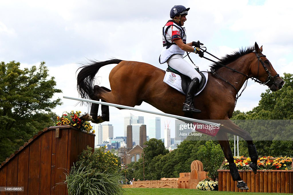Mary King of Great Britain riding Imperial Cavalier negotiates a jump in the Eventing Cross Country Equestrian event on Day 3 of the London 2012 Olympic Games at Greenwich Park on July 30, 2012 in London, England.