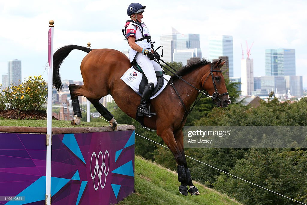 Mary King of Great Britain riding Imperial Cavalier negotiates an obstacle in the Eventing Cross Country Equestrian event on Day 3 of the London 2012 Olympic Games at Greenwich Park on July 30, 2012 in London, England.