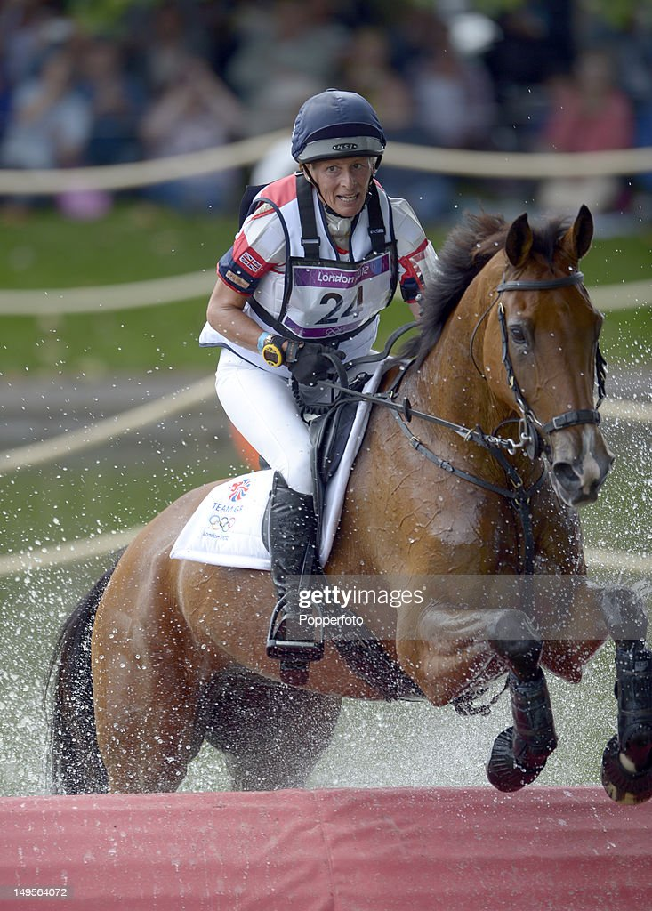 Mary King of Great Britain riding Imperial Cavalier negotiates the water jump in the Eventing Cross Country Equestrian event on Day 3 of the London 2012 Olympic Games at Greenwich Park on July 30, 2012 in London, England.
