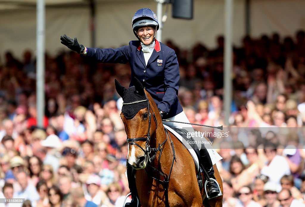 <a gi-track='captionPersonalityLinkClicked' href=/galleries/search?phrase=Mary+King&family=editorial&specificpeople=2183214 ng-click='$event.stopPropagation()'>Mary King</a> of United Kingdom celebrates on Imperial Cavalier during day 5 of the Badminton Horse Trials on April 25, 2011 in Badminton, Gloucestershire.