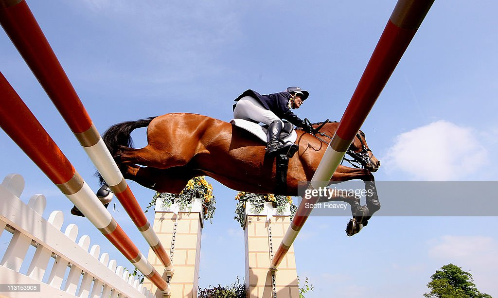 <a gi-track='captionPersonalityLinkClicked' href=/galleries/search?phrase=Mary+King&family=editorial&specificpeople=2183214 ng-click='$event.stopPropagation()'>Mary King</a> of United Kingdom clears a fence on Imperial Cavalier during day 5 of the Badminton Horse Trials on April 25, 2011 in Badminton, Gloucestershire.