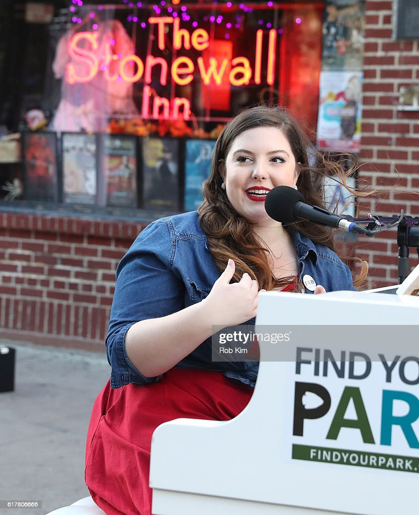 Mary Lambert performs at Stonewall National Monument on October 24, 2016 in New York City.