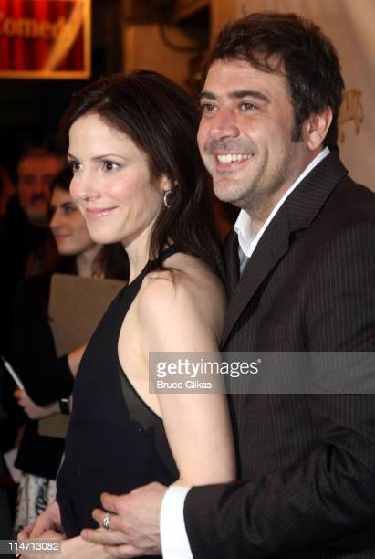 Mary Louise Parker and Jeffrey Dean Morgan during 'Curtains' Broadway Opening Night Arrivals March 22 2007 at Hirschfeld Theatre in New York City New...