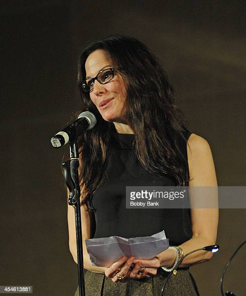 Mary Louise Parker performs at the Bless This House A Holidayish Benefit Celebration on December 9 2013 in New York City